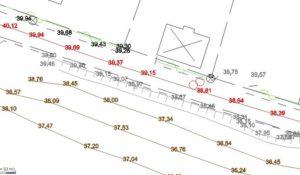 Bild på utsnitt av en projekteringsritning.